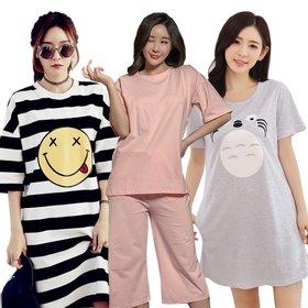 균일가 무료배송 여름신상 원피스 잠옷 파자마 이지웨어 잠옷 파자마룩 홈웨어/예쁘고 편안한 잠옷