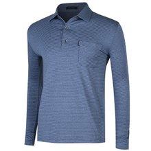 [파파브로]남성 국산 줄무늬 스판 카라 티셔츠 LM-A9-205-네이비