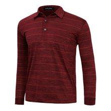 [파파브로]남성 국산 패턴 긴팔 카라 면 티셔츠 LM-A9-304-레드
