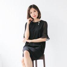 마담4060 엄마옷 쉬폰플리츠원피스 QOP905023