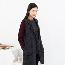 마담4060 엄마옷 버튼카라밍크조끼-ZVE911006-