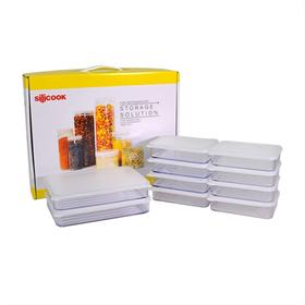 [실리쿡] 냉동실수납용기 납작이기프트20P세트 (10종)