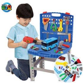 [꼬마버스타요] 타요전동공구테이블 / 2in1공구테이블(공구가방)+전동드라이버+공구놀이 소품