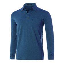 [파파브로]남성 국산 스판 카라 긴팔 티셔츠 LM-A9-202-블루