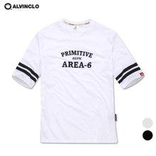 [앨빈클로]AST-3612 AREA 루즈핏 5부 티셔츠/남자 여자 커플룩 루즈핏