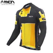 [MCN] 테리 옐로우 긴팔져지/자전거상의/자전거의류