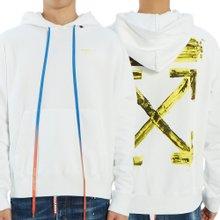 [오프화이트] 아크릴 애로우 슬림 OMBB034F 19E30010 0160 남자 후드 긴팔 기모 맨투맨 티셔츠
