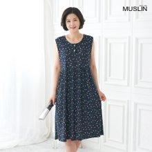 엄마옷 모슬린 꽃나시 원피스 홈웨어 HO005001