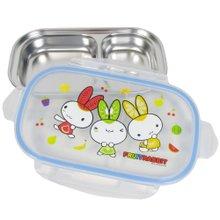 과일토끼 2구 락스텐도시락 유아식기 아기이유식 어린이집 유치원도시락통 다이어트식판 스텐식판