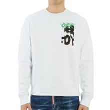 [오프화이트] 스프레이 슬림 OMBA025F 19D25005 0188 남자 긴팔 기모 맨투맨 티셔츠