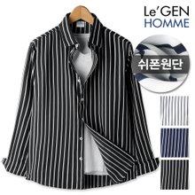르젠 심플 라인포인트 노멀핏 쉬폰 셔츠(LNSH1313SS)