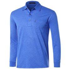 [파파브로]남성 국산 패턴 긴팔 카라 티셔츠 LM-A9-258-블루