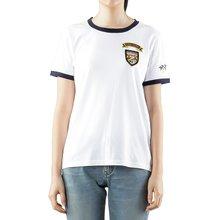 [토리버치] (58421 100) 여성 패치 반팔 티셔츠 19FW