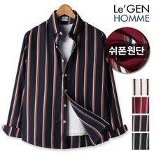 르젠 3도배색라인 노멀핏 쉬폰 셔츠(LNSH1316SS)