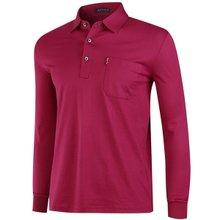 [파파브로]남성 국산 긴팔 카라 면 티셔츠 LM-A9-511-자주