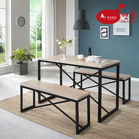 앳홈 디고 원목 테이블 세트(의자포함)