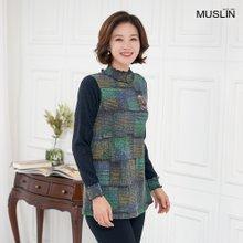 엄마옷 모슬린 스모크 기모 반폴 티셔츠 TP910309