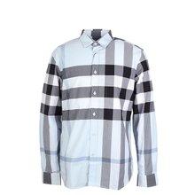 [버버리]20SS 8025846 A1042 남성 체크 스트레치 셔츠 초크 블루