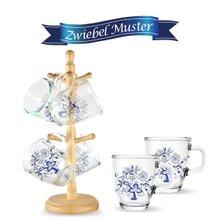 쯔비벨무스터 강화 유리컵 머그 선물세트 (원목걸이+머그컵 6P)