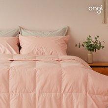 핑크 거위털이불 2200g+이불커버 싱글세트