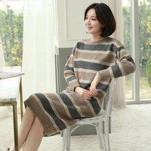 [웬디즈갤러리]스텔라 스트라이프 니트 원피스 TOP007