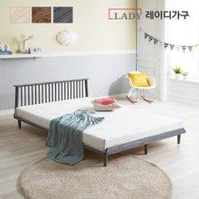 레이디가구데일리 원목 평상형 퀸 침대 + 헤드