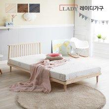 레이디가구데일리 원목 평상형 슈퍼싱글 침대 + 헤드