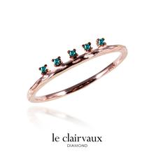[르클레보] 리즈8080 블루파이브피크 다이아몬드 14k반지