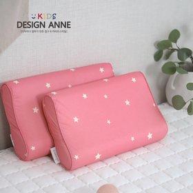 [디자인엔스토리] 알러지케어 엔 스타 아동 메모리폼베개 핑크