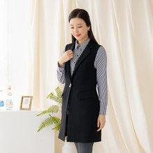 마담4060 엄마옷 세련카라롱조끼-ZVE002005-