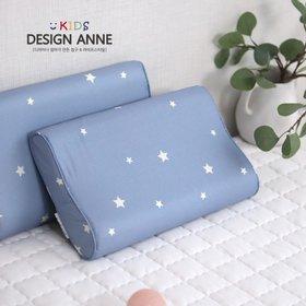 [디자인엔스토리] 알러지케어 엔 스타 아동 메모리폼베개 블루