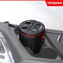 [본젠] 퀵차저QC3.0 차량용 컵홀더 멀티 고속 충전기 VCC-509Q (USB포트 4구 X 시거잭 2구 )