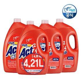 [왕대용량+사은품증정] 액츠 세탁 액체세제 4.21Lx4개(총16,840ml)