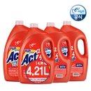 [행사] 피죤 액츠 세탁액체 빨래세제 4.21Lx4개+고농축300ml  대용량(총16,840ml)◀일반드럼