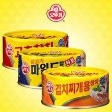 [오뚜기] 고추참치 6캔 + 마일드참치 6캔 + 김치찌개용참치 6캔 (캔당 100g)