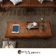 해찬솔 소나무 통원목 평창뜰 1800원목좌탁/좌식테이블/거실테이블/원목테이블/소파테이블