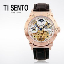 티센토(TI SENTO) 남성시계(TS50051PKCH/가죽밴드/오토매틱/본사직영)