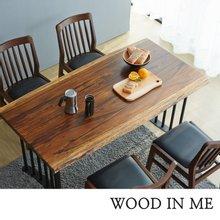 우드인미 장미목 4인용 원목식탁 세트1600A-as_체어02/의자포함/로즈우드/호피목/우드슬랩식탁