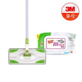 [3M]베이직 막대걸레+정전기청소포 50매외 리필(4개이상구매시 무료배송)
