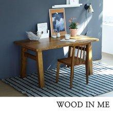 우드인미 애쉬원목 서재 원목책상 테이블 1500_T40/원목식탁/우드슬랩/카페테이블