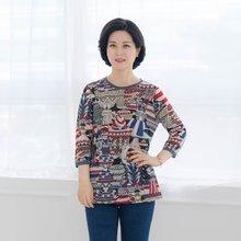 마담4060 엄마옷 컬러링북티셔츠-ZTE003082-