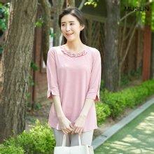 엄마옷 모슬린 러블리 체인 라운드 티셔츠 TS004114