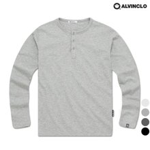[앨빈클로] AVT-234 부드러운 슬라브 헨리넥 티셔츠 남자 여자 커플룩 단체