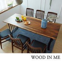 우드인미 장미목 6인용 원목식탁 세트2000A-as_체어02/의자포함/로즈우드/호피목/우드슬랩식탁
