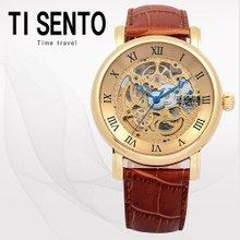 티센토(TI SENTO) 남성시계(TS50061GDBR/가죽밴드/오토매틱/본사직영)