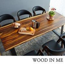 우드인미 장미목 6인용 원목식탁 테이블1800-ap/로즈우드/호피목/원목책상/우드슬랩책상