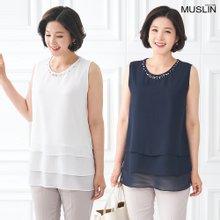 [엄마옷 모슬린] 캉캉 진주나시 라운드 티셔츠 TS005012