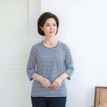 마담4060 엄마옷  봄을입다줄줄이티셔츠-ZTE003017-
