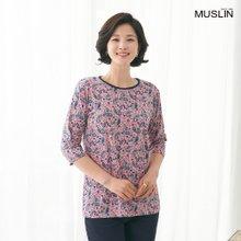 엄마옷 모슬린 꽃 페이즐 라운드 티셔츠 TS004034