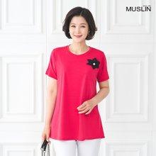 [엄마옷 모슬린] 찰랑찰랑 쿨 라운드 티셔츠 TS005013